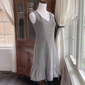 LOFT Black & White Tweed Dress, Size 00